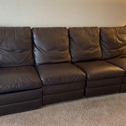 Natutzi Leather Recliner Sofa for Sale in Miami,  FL
