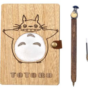 Sytian Vintage My Neighbor Totoro Wooden Cover Diary Notebooks Journals Travel Journal Travel Notebook Studybook Scrapbook - With a Nice Gift Box for Sale in West Covina, CA