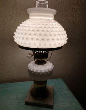 Antique Hobnail Milk Glass Hurricane Lamp Light for Sale in St. Pete Beach, FL