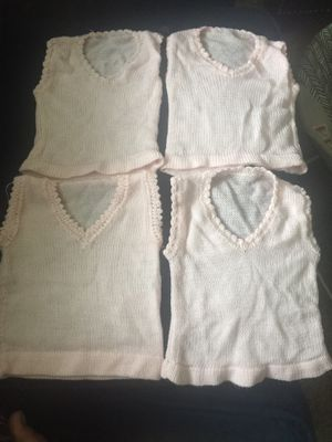 Pink color baby size 0-6 months vest sweater all for 10 for Sale in Sayreville, NJ