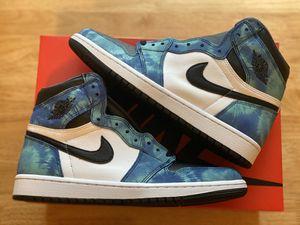 Nike air Jordan 1 High OG Tie Dye Size 9.5 Mens for Sale in Alton, IL
