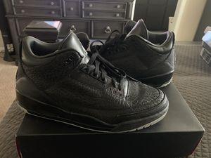 VNDS 9/10 Jordan Retro 3 Flip Black Size 12!!! for Sale in Portland, OR
