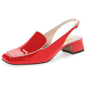 YDN Women Closed Square Toe Block Low Heels Slingb for Sale in Arcadia, CA
