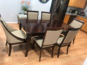 Dining room set, 72 inch table 6 chairs included for Sale in Leesburg, VA