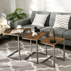 3 Piece Multifunctional Coffee End Table Set Retail 75.95 My price 50.00 for Sale in Fontana,  CA