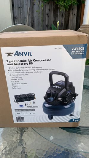 Ánvil 2 gal Air Compressor and accessory kit for Sale in San Jose, CA