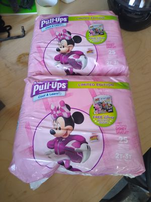 2 Brand new packages of Huggies Pull ups 2t-3t for Sale in Cedar Park, TX