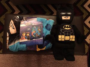 Brand new LEGO blanket and LEGO Batman plush. for Sale in Gilbert, AZ