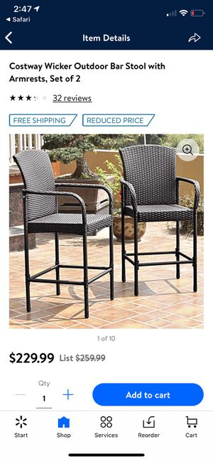 New Wicker Bar Stools set of 2 for Sale in Fresno, CA