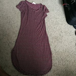deep burgundy and white striped dress for Sale in Raleigh, NC
