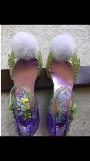 NEW TinkerBell LIGHT UP SANDLES. STICKER IS STILL ON SOME. I HAVE MATCHING TinkerBell dress. See my stuff. Also other DISNEY STORE Princess Gowns & A for Sale in Newtown, PA