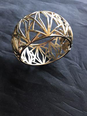 Vintage Sequins Gold Bangle Bracelet for Sale in Coolidge, AZ