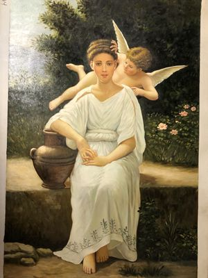 The Angel and Maiden oil painting for Sale in Danbury, CT
