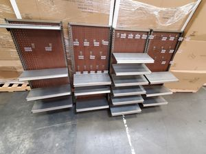 X6 panel Wall mounted commercial grade shelving/residential/garage one full palette for Sale in Everett, WA