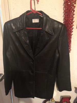 Authentic lambskin Black leather jacket! Large for Sale in San Diego, CA