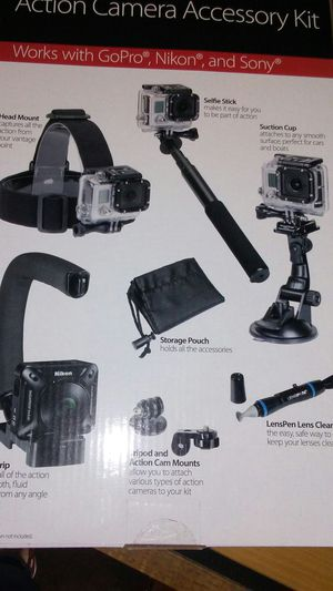 Action camera accessory kit for Sale in Rockwall, TX