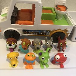 The Ugglys Pet Shop Dirty Dog Wash Van And A Set Of 8-pack Toy Figures for Sale in Seattle,  WA