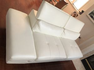 White leather couch for Sale in Dunn Loring, VA