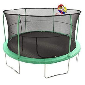 12ft trampoline with enclosure and basketball hoop for Sale in Columbus, OH