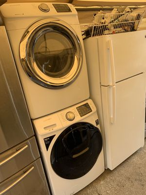 Washer and dryer Samsung gas dryer with 3 months warranty free Delivery installation<<<hablo español for Sale in Oakland, CA