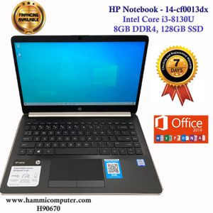 "HP Notebook - 14-cf0013dx, Intel Core i3-8130U, 8GB DDR4, 128GB SSD, Win10 ""H90670"" for Sale in Los Angeles, CA"