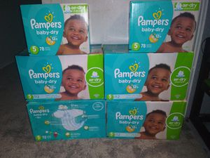 Pampers size 5 bundle for Sale in Kent, WA