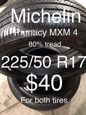 2 Michelin tires 235/50 R17 for Sale in San Lorenzo, CA