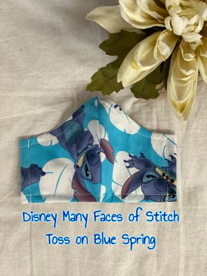 Disney Many Faces of Stitch Face Mask with Filter Pocket for Sale in Hayward, CA