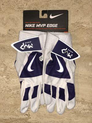 Nike MVP Edge Baseball Adult M Batting Gloves GB0383-521 White/Purple for Sale in Brecksville, OH