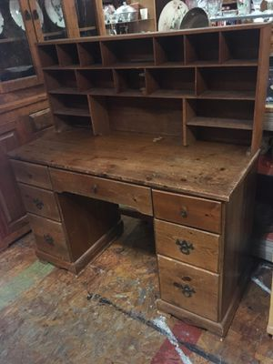 Solid wood desk with top hutch $75 for Sale in San Diego, CA