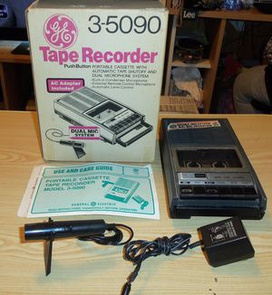 VINTAGE tape Recorder Original Box all the parts GREAT GIFT FOR THE ELECTRONIC COLLECTOR BOX IS EXCELLENT for Sale in Brecksville, OH