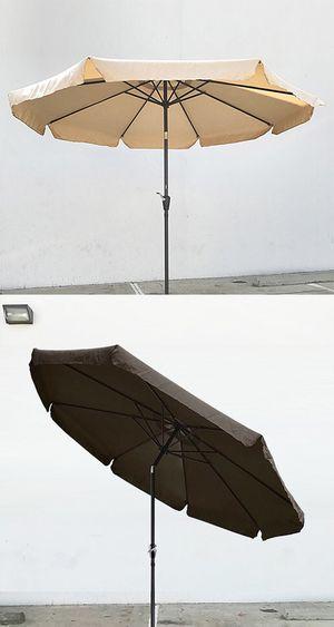 New $40 each Outdoor 10' ft Patio Umbrella Aluminum Beach Garden w/ Tilt Crank (4 Colors) for Sale in Whittier, CA