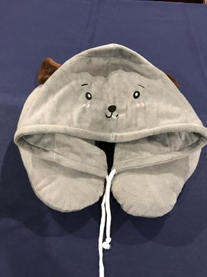 Hooded Animal Plush Neck Pillow, Microbeads for Comfort with Adjustable Drawstring for Sale in Cypress, CA