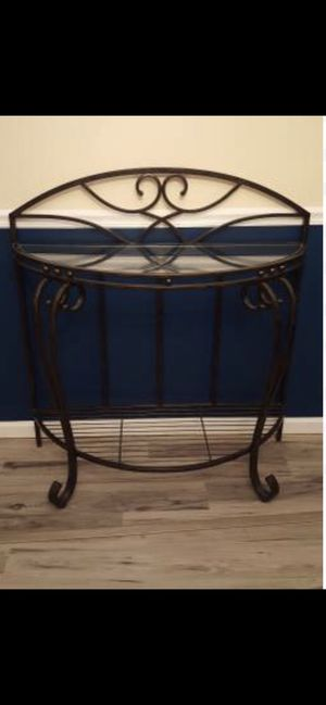 OBO Beautiful Bronze Glass Top Console Table. Excellent condition! for Sale in NO POTOMAC, MD