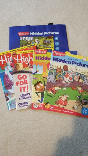 Highlights Hidden Picture Activity Books & Carrying Bag for Sale in Falls Church, VA