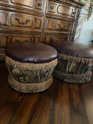 Handmade Leather Ottomans for Sale in Victorville, CA