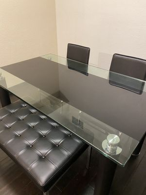 Dining table set with dining chairs and bench for Sale in Tempe, AZ