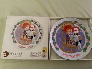"THE SCHMID COLLECTIONS ""THE RAGGEDY ANN & ANDY PLATE IN ORIGINAL BOX #5 for Sale in Henderson, NV"