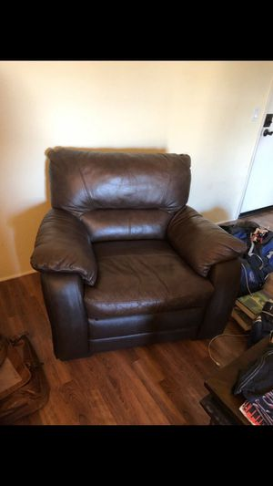 Comfy brown leather chair for Sale in Santa Monica, CA