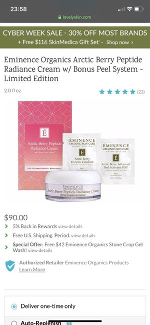 Arctic Berry Peptide Radiance Cream with Bonus Perl System for Sale in Tustin, CA