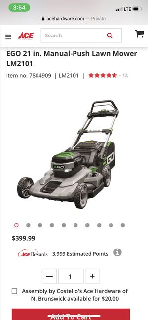 Ego 21 in. 56V Lithium-Ion Cordless Electric Walk Behind Push mower for Sale in East Windsor, NJ