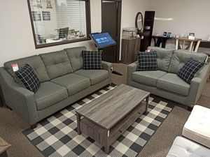 Modern 2 PC Sofa and Loveseat Set, Grey for Sale in Norwalk, CA