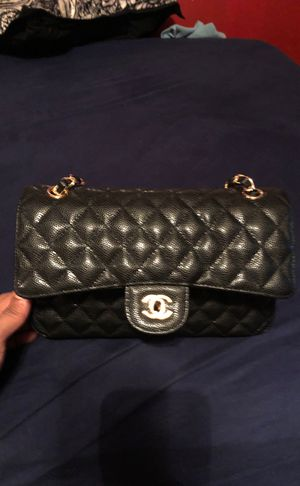 Chanel Double Flap Jumbo Black Caviar Leather Shoulder Bag Listed by: Kal M. for Sale in Queens, NY