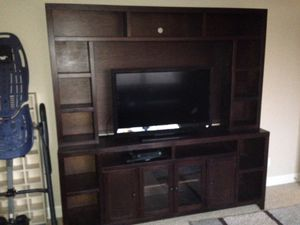 Espresso Wood Entertainment Center for Sale in Wilsonville, OR