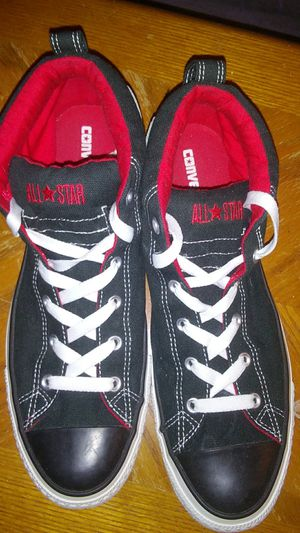 Red & Black Converse size 13 only worn less than a handful of times pretty much brand new for Sale in Severn, MD