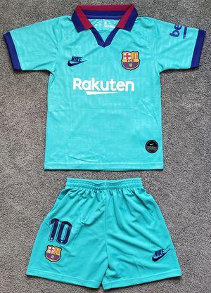 FC BARCELONA kid third jersey set camiseta conjunto de niño for Sale in Brea, CA