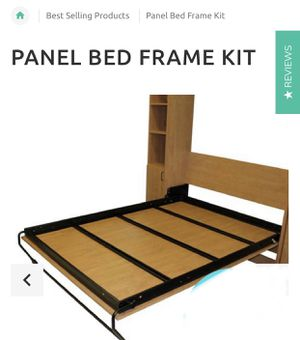 MurphyBedDepot Panel Bed Frame Kit - King for Sale in Central City, AR