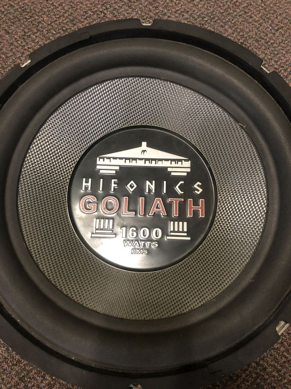 "15"" Hifonics Goliath 1600rms sub for Sale in Marrero, LA - OfferUp"
