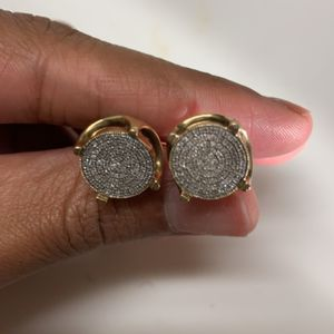 10k real gold earrings real VVS diamonds for Sale in Los Angeles, CA