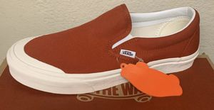 Vans classic slip ons toe cap - size 10.5 men for Sale in Corona, CA